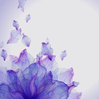 Pixerstick till Allt Akvarell kort med lila blomma kronblad