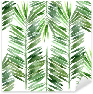 Pixerstick Dekor Akvarell palm blad sömlös