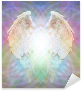 Pixerstick Dekor Angel Wings på mångfärgade matris webben