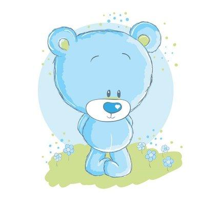 Pixerstick till Allt Baby blue bear