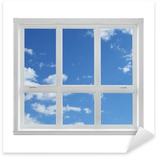 Pixerstick till Allt Blå himmel sedd genom fönstret