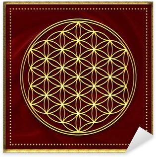 Pixerstick Dekor Blomma av liv guld