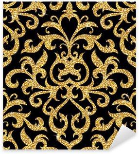 Pixerstick Dekor Blommig gyllene tapeter