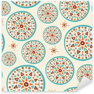 Pixerstick Dekor Boho mönster med handgjorda indiska konstdesign