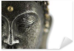 Pixerstick Dekor Buddha staty på vit bakgrund