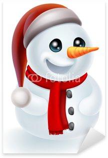 Pixerstick till Allt Christmas Snowman i den Santa hatten