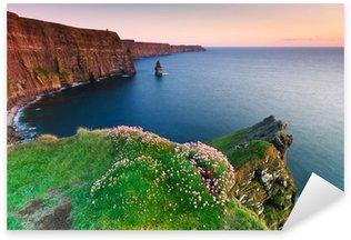 Pixerstick till Allt Cliffs of Moher på solnedgången i Co Clare, Irland