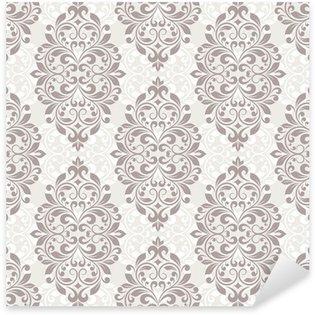 Pixerstick Dekor Damast sömlösa mönster för design.
