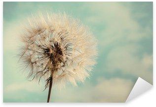 Pixerstick till Allt Dandelion Isolerade på blå Cloudscape