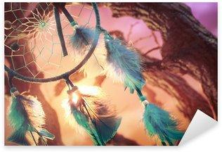Pixerstick till Allt Dreamcatcher på en skog vid solnedgången