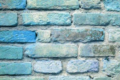 Pixerstick till Allt Gamla blå tegelvägg bakgrund