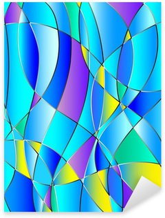 Pixerstick till Allt Glasmålning textur, blå ton, bakgrund vektor