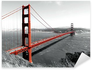 Pixerstick till Allt Golden Gate-bron röd Pop på B
