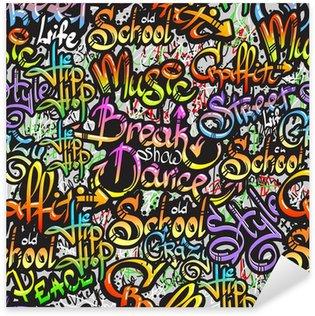 Pixerstick till Allt Graffiti ordet sömlösa mönster