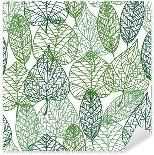 Pixerstick till Allt Gröna blad sömlösa mönster