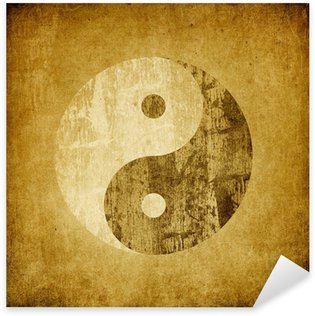 Pixerstick Dekor Grunge yinyang symbol bakgrund.