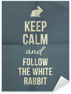 Pixerstick till Allt Håll lugn och träda den vita kaninen offert på papper textur