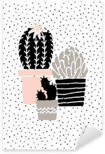 Pixerstick till Allt Hand Drawn Cactus affisch