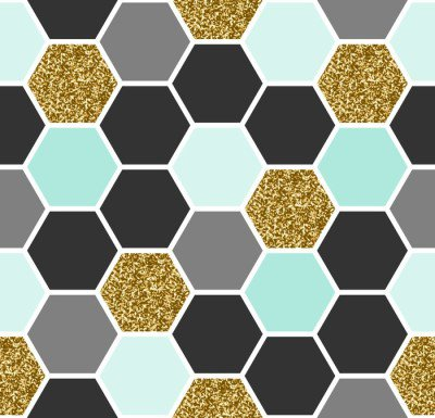Pixerstick till Allt Hexagon sömlösa mönster