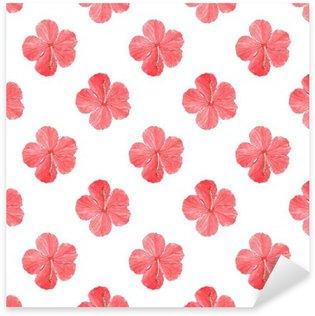 Pixerstick Dekor Hibiskus. Sömlös mönster med blommor. Handritade bakgrund