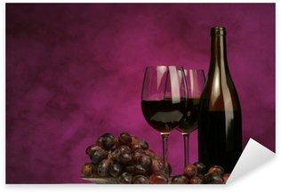 Pixerstick till Allt Horisontell vin flaska med glasögon och druvor