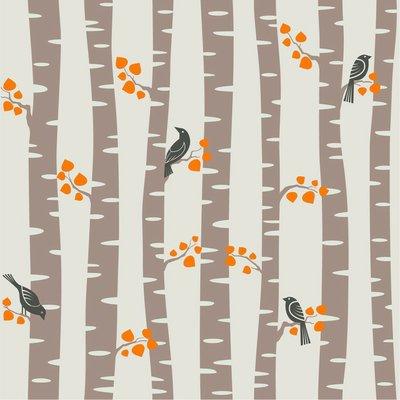 Pixerstick till Allt Höst, träd mönster