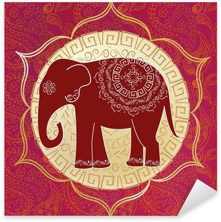 Pixerstick Dekor Indisk elefant med mandalas