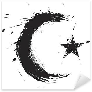 Pixerstick Dekor Islamiska religionen symbol skapades i grunge stil