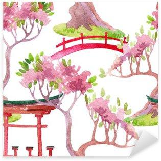 Pixerstick Dekor Japanska sömlösa mönster