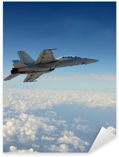 Pixerstick Dekor Jetfighter under flygning