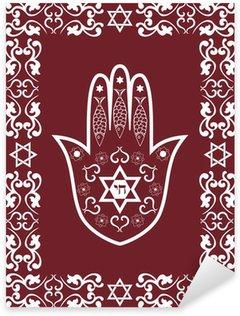 Pixerstick Dekor Jewish sakral amulett - hamsa eller Miriam handen, vektor
