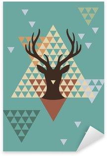 Pixerstick till Allt Jul rådjur med geometriska mönster, vektor