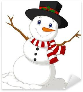 Pixerstick till Allt Jul Snowman på sig en hatt och röd halsduk