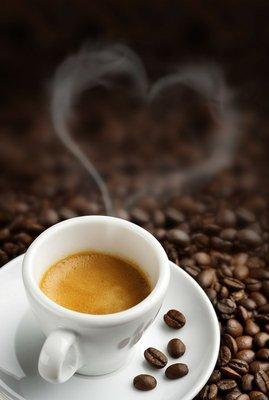 Pixerstick till Allt Kaffekopp med hjärtformade ånga