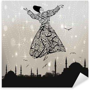 Pixerstick Dekor Kalligrafi dervish och istanbul moskéer
