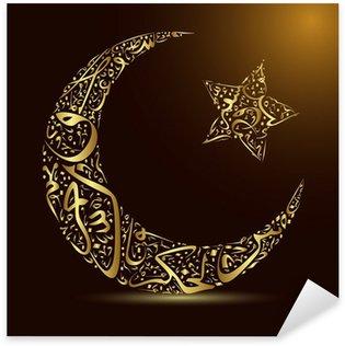 Pixerstick Dekor Kalligrafi, måne och stjärna