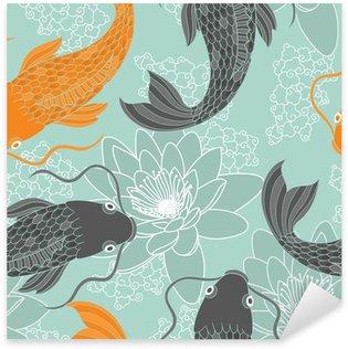 Pixerstick Dekor Kinesiska karpar sömlösa mönster