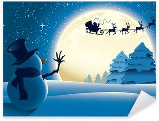 Pixerstick till Allt Lonely Snowman Vinka Santa Sleigh