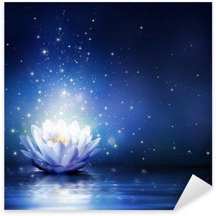 Pixerstick Dekor Magiska blomma på vatten - blå