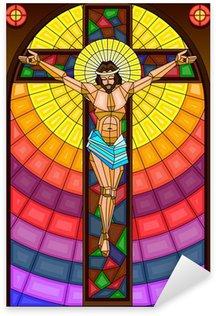 Pixerstick Dekor Målat glas Målning av Crucifixion