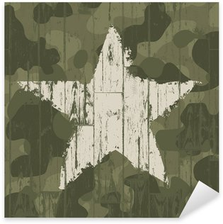 Pixerstick Dekor Militär kamouflage bakgrund med stjärna. Vector, EPS10.