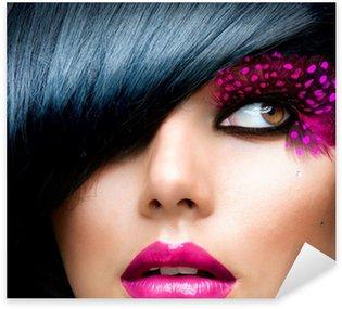 Pixerstick till Allt Mode Brunette modell porträtt. Frisyr