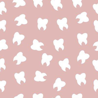 Pixerstick till Allt Mönstret av tänder, ljust, tandläkare