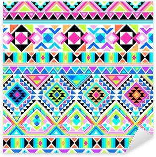 Pixerstick Dekor Neon aztec trycket ~ sömlös bakgrund