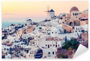 Pixerstick till Allt Oia by vid solnedgången, Santotini ö, Grekland. Instagram Vintagestyle