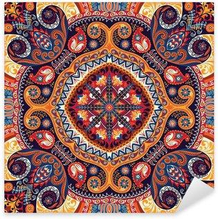 Pixerstick Dekor Paisley sjalett vektor mönster
