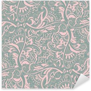 Pixerstick Dekor Paisley sömlösa mönster