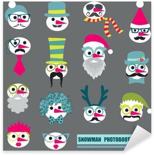 Pixerstick till Allt Photobooth Snowman Party set - glasögon, hattar, läppar, mustasch, ma