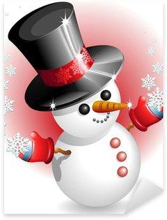 Pixerstick till Allt Pupazzo di Neve con Cappello-Snowman med hatten-vektor