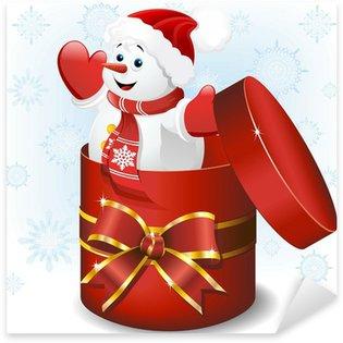 Pixerstick till Allt Pupazzo di Neve Dono-Baby Snowman Gift-vektor